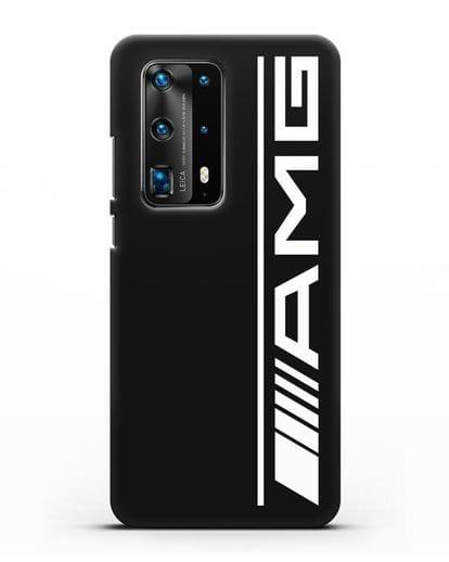 Чехол с логотипом AMG силикон черный для Huawei P40 Pro