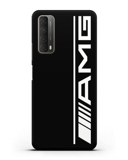 Чехол с логотипом AMG силикон черный для Huawei P Smart 2021