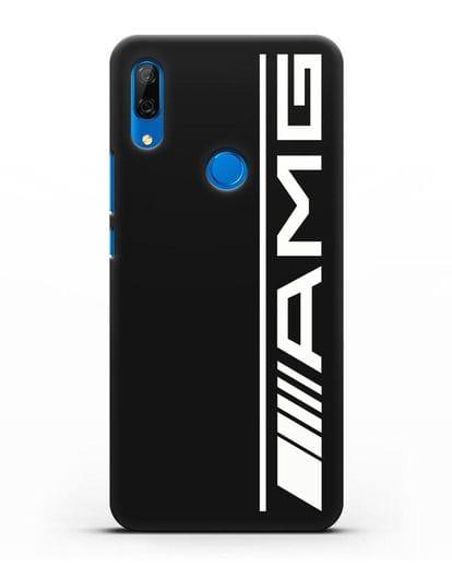 Чехол с логотипом AMG силикон черный для Huawei P Smart Z