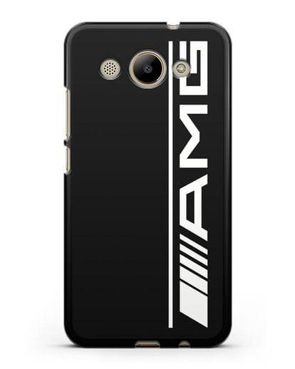 Чехол с логотипом AMG силикон черный для Huawei Y3 2017