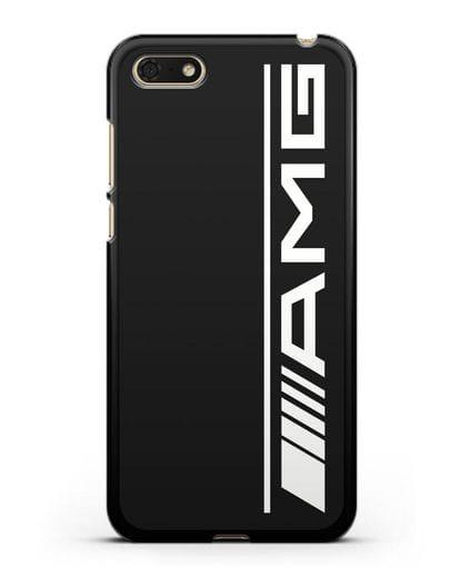 Чехол с логотипом AMG силикон черный для Huawei Y5 Prime 2018