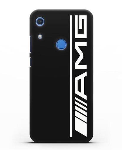 Чехол с логотипом AMG силикон черный для Huawei Y6s