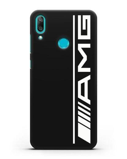 Чехол с логотипом AMG силикон черный для Huawei Y7 2019