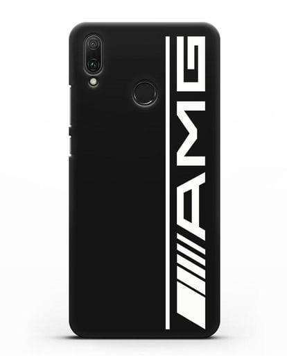 Чехол с логотипом AMG силикон черный для Huawei Y9 2019