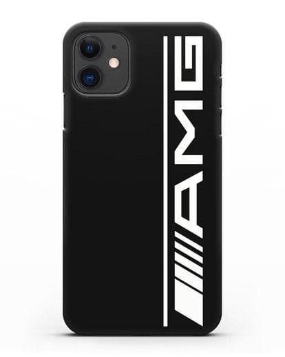 Чехол с логотипом AMG силикон черный для iPhone 11