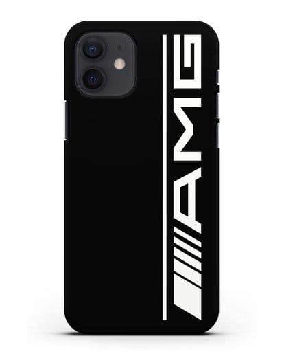 Чехол с логотипом AMG силикон черный для iPhone 12