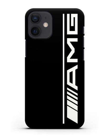 Чехол с логотипом AMG силикон черный для iPhone 12 mini