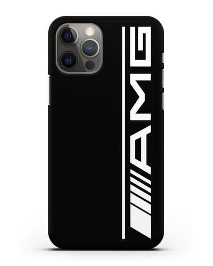 Чехол с логотипом AMG силикон черный для iPhone 12 Pro