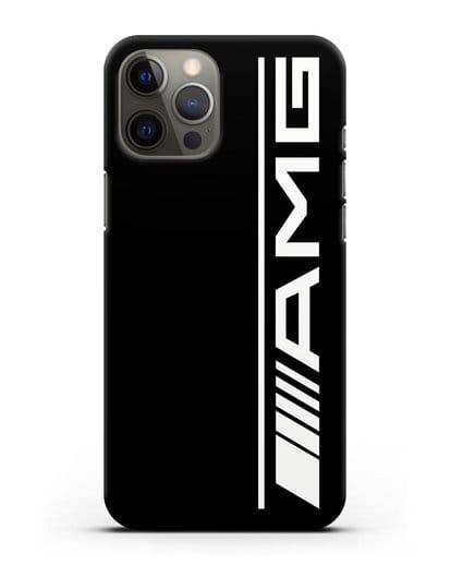 Чехол с логотипом AMG силикон черный для iPhone 12 Pro Max