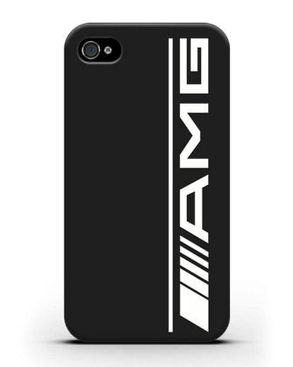 Чехол с логотипом AMG силикон черный для iPhone 4/4s