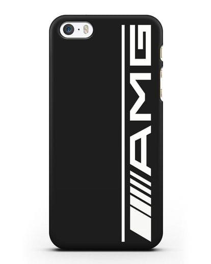 Чехол с логотипом AMG силикон черный для iPhone 5/5s/SE