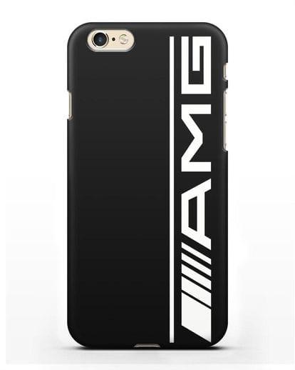 Чехол с логотипом AMG силикон черный для iPhone 6
