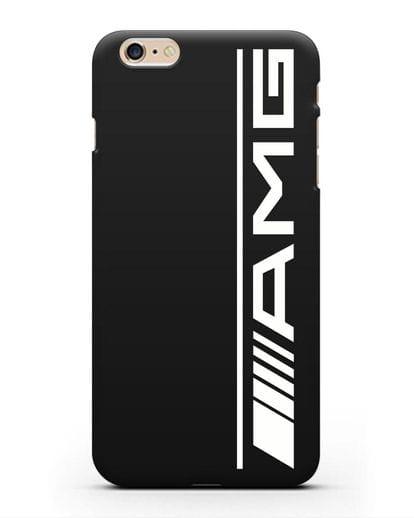 Чехол с логотипом AMG силикон черный для iPhone 6s Plus