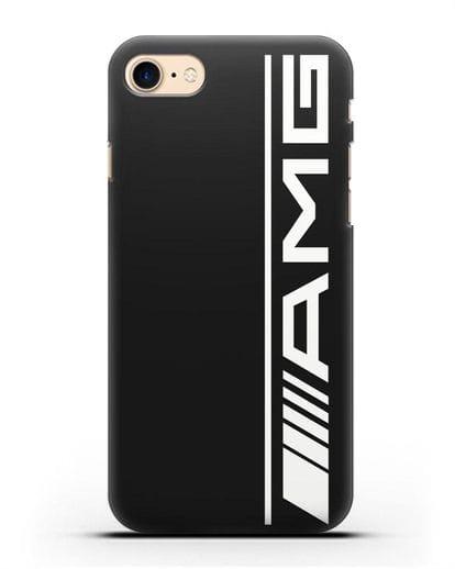 Чехол с логотипом AMG силикон черный для iPhone 8