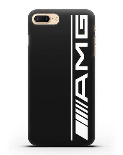 Чехол с логотипом AMG силикон черный для iPhone 7 Plus