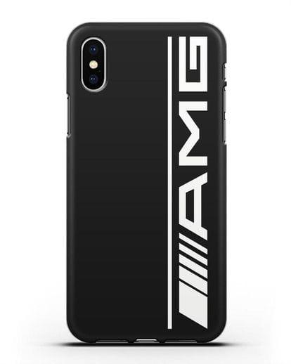 Чехол с логотипом AMG силикон черный для iPhone X