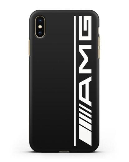Чехол с логотипом AMG силикон черный для iPhone XS Max