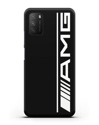 Чехол с логотипом AMG силикон черный для Xiaomi Poco M3