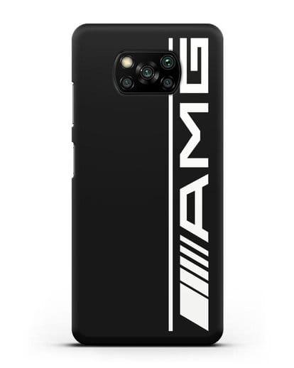 Чехол с логотипом AMG силикон черный для Xiaomi Poco X3