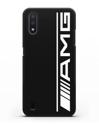 Чехол с логотипом AMG силикон черный для Samsung Galaxy A01 [SM-A015F]