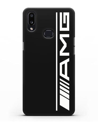Чехол с логотипом AMG силикон черный для Samsung Galaxy A10s [SM-F107F]