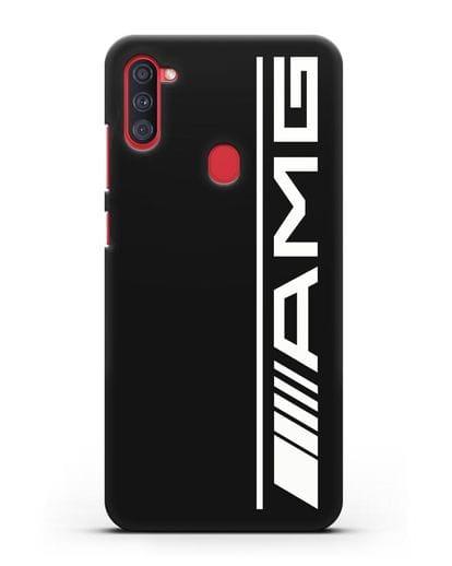 Чехол с логотипом AMG силикон черный для Samsung Galaxy A11 [SM-A115F]