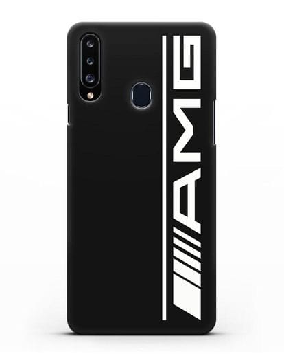 Чехол с логотипом AMG силикон черный для Samsung Galaxy A20s [SM-A207FN]