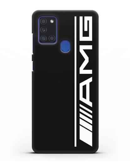 Чехол с логотипом AMG силикон черный для Samsung Galaxy A21s [SM-A217F]