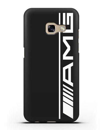 Чехол с логотипом AMG силикон черный для Samsung Galaxy A3 2017 [SM-A320F]