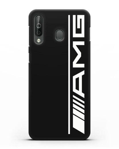 Чехол с логотипом AMG силикон черный для Samsung Galaxy A40s [SM-A507FN]