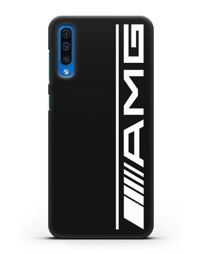 Чехол с логотипом AMG силикон черный для Samsung Galaxy A50 [SM-A505F]