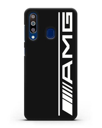 Чехол с логотипом AMG силикон черный для Samsung Galaxy A60 [SM-A606F]
