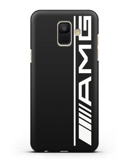 Чехол с логотипом AMG силикон черный для Samsung Galaxy A6 2018 [SM-A600F]