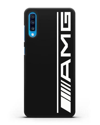 Чехол с логотипом AMG силикон черный для Samsung Galaxy A70 [SM-A705F]