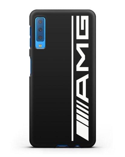 Чехол с логотипом AMG силикон черный для Samsung Galaxy A7 2018 [SM-A750F]