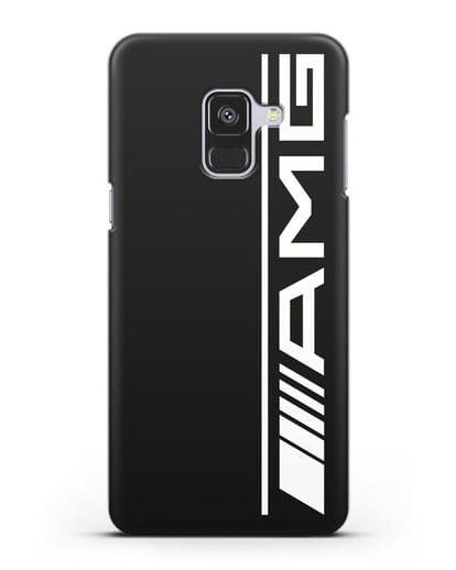 Чехол с логотипом AMG силикон черный для Samsung Galaxy A8 [SM-A530F]