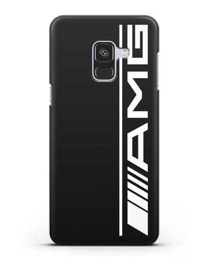 Чехол с логотипом AMG силикон черный для Samsung Galaxy A8 Plus [SM-A730F]