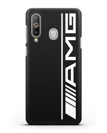 Чехол с логотипом AMG силикон черный для Samsung Galaxy A8s [SM-G8870]