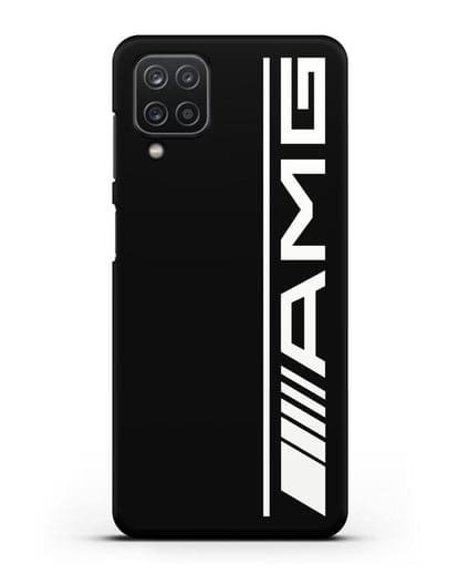 Чехол с логотипом AMG силикон черный для Samsung Galaxy A12 [SM-A125F]