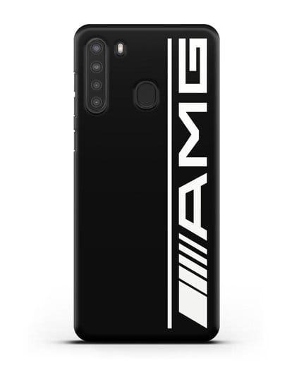 Чехол с логотипом AMG силикон черный для Samsung Galaxy A21 [SM-A215]