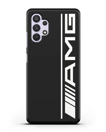Чехол с логотипом AMG силикон черный для Samsung Galaxy A32 4G [SM-A325F]