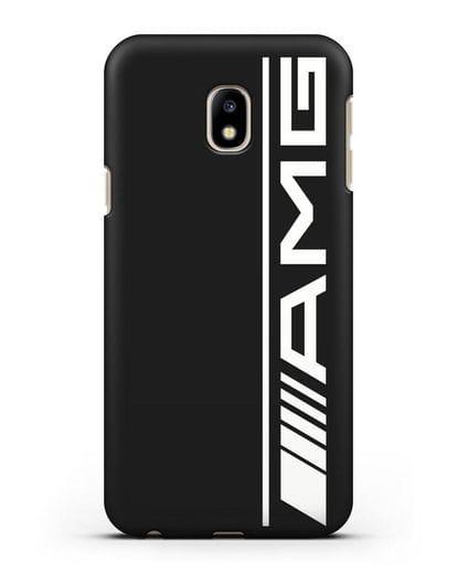 Чехол с логотипом AMG силикон черный для Samsung Galaxy J3 2017 [SM-J330F]