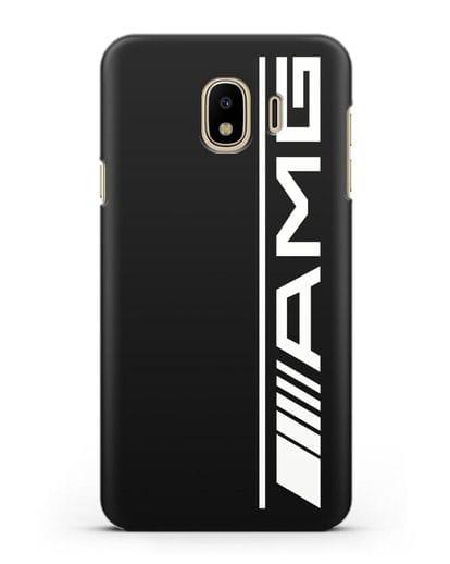 Чехол с логотипом AMG силикон черный для Samsung Galaxy J4 2018 [SM-J400F]