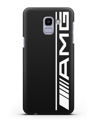 Чехол с логотипом AMG силикон черный для Samsung Galaxy J6 2018 [SM-J600F]