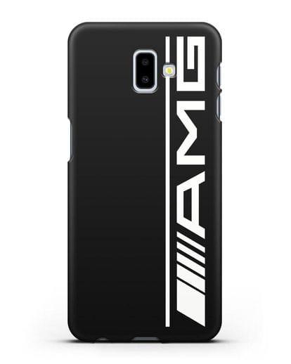 Чехол с логотипом AMG силикон черный для Samsung Galaxy J6 Plus [SM-J610F]