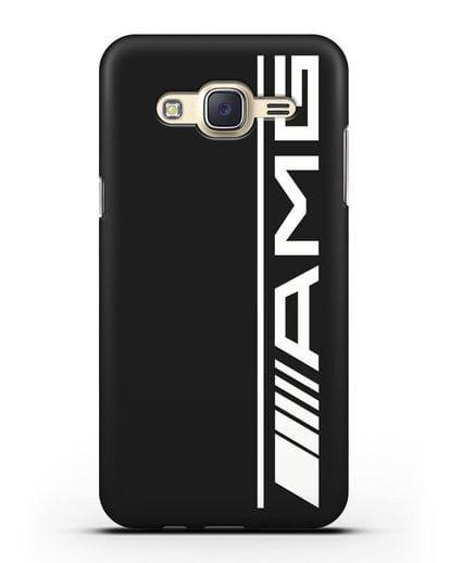 Чехол с логотипом AMG силикон черный для Samsung Galaxy J7 2015 [SM-J700H]