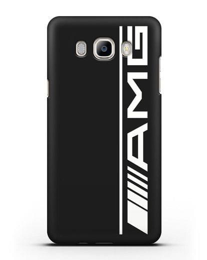 Чехол с логотипом AMG силикон черный для Samsung Galaxy J7 2016 [SM-J710F]
