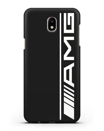 Чехол с логотипом AMG силикон черный для Samsung Galaxy J7 2017 [SM-J720F]