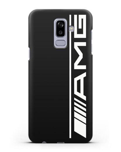 Чехол с логотипом AMG силикон черный для Samsung Galaxy J8 2018 [SM-J810F]