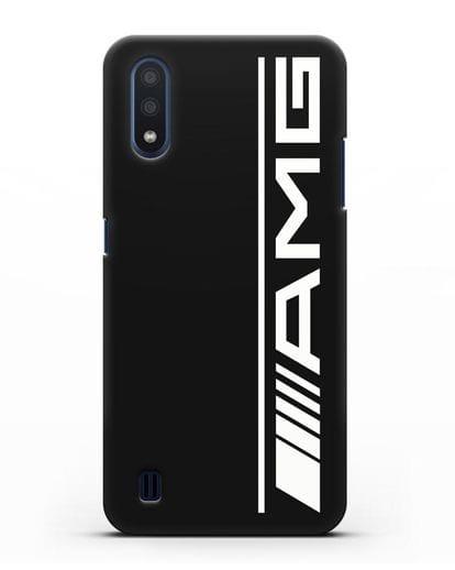Чехол с логотипом AMG силикон черный для Samsung Galaxy M01 [SM-M015F]